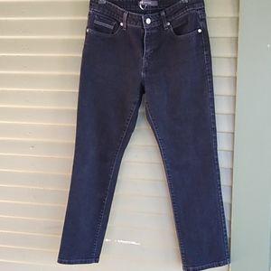Levis Black Label Mid Rise Skinny Black Jeans 8